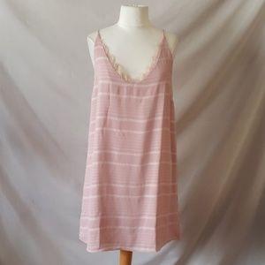 Pink lined slip dress
